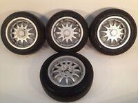 "ATS 4X100, 15"", 7J. Deep dish alloy wheels, original Made in Germany,not borbet, brabus"