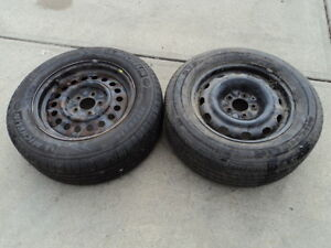2 Michelin Tires with Rims for 1997-2006 Pontiac Grand Prix