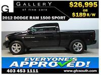 2012 DODGE RAM SPORT CREW *EVERYONE APPROVED* $0 DOWN $189/BW!