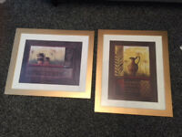 STUNNING LARGE FRAMED TWO PIECE MOROCCAN WALL ART EXCELLENT CONDITION PICK UP ONLY