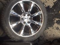 CADILLAC ESCALADE  MAGS 22 INCH WITH WINTER TIRES