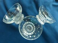 Three cut glass bowls (Waterford or Stewart I think)