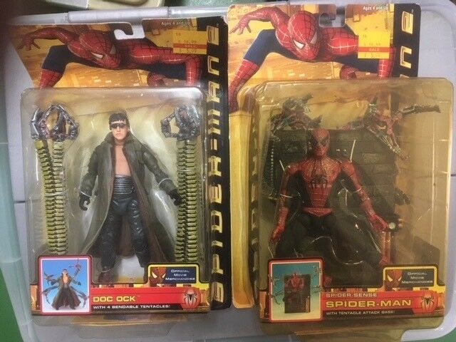 Spiderman 2 Doctor Octopus and Spiderman action figures NEW | Toys ...