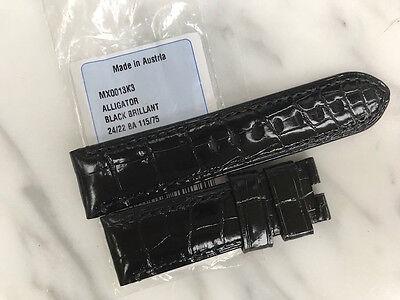 Officine Panerai Strap Brilliant Black Alligator for 44mm - BA