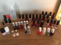 Collection of 37 top brand nail varnishes, nail treatments and cuticle remover .