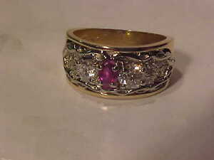 #806-ANTIQUE RUBY/DIAMOND BEAUTY-A *MUST SEE*-Size 7 1/4