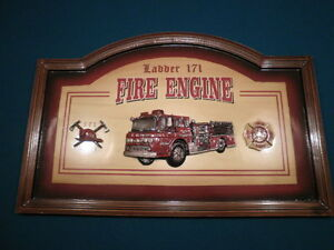 Fire House Wooden Sign.