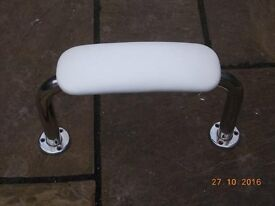 Cushioned Backrest for a Disabled Toilet