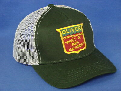 Oliver Tractor Hat - Green White Mesh - Super Fleetline Logo ()