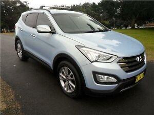 2013 Hyundai Santa Fe DM MY14 Elite Blue 6 Speed Sports Automatic Wagon Hamilton East Newcastle Area Preview