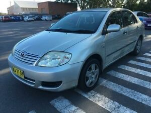 2004 Toyota Corolla ZZE122R Ascent Silver 5 Speed Manual Sedan Georgetown Newcastle Area Preview