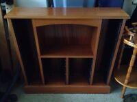 Solid wooden CD storage unit.