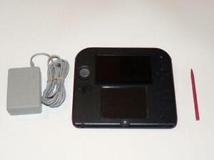 *****NINTENDO 2DS ROUGE + JEUX A VENDRE / RED NINTENDO 2DS + GAMES FOR SALE*****