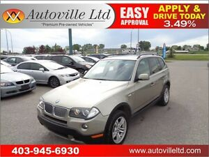 2008 BMW X3 3.0i LEATHER PANORAMIC ROOF AWD EVERYONE APPROVED