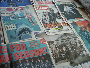 1993 TORONTO MAPLE LEAFS NEWSPAPER SCRAPBOOK COLLECTION VARIOUS Cambridge Kitchener Area image 3