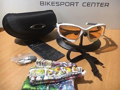 OAKLEY Racing Jacket Vented weiß matt Brille Sonnenbrille Fahrradbrille MTB