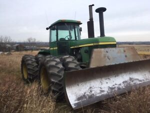JOHN DEERE 8430 4WD TRACTOR WITH 12 FT BLADE FOR SALE
