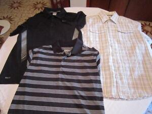 2 polos Nike et chemise Mexx pour homme, gr.  Médium