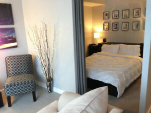 BRIGHT FURNISHED CONDO with city & lake views (Utilities incl.)