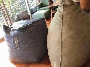 Lounge furniture: LOVESACS x 2 Woollahra Eastern Suburbs Preview