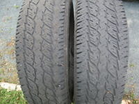 GREAT PAIR OF TRUCK 265/70R16 WHITE LETTER ONE SIDE.$40 FOR BOTH