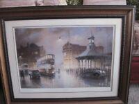 Large framed print of Bridgeton Cross - - - £20 - -