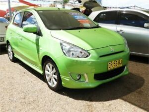 2013 Mitsubishi Mirage LA MY14 Sport Green 5 Speed Manual Hatchback