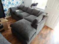 NEW CORD CORNER SOFA CAN DLEIVER FREE
