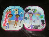 7 inches Mini magnetic dress-up dolls set