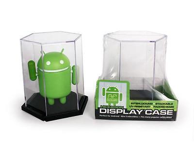 Single Hexagonal Display Case Android Foundry Interlocking Stackable Uv Resist