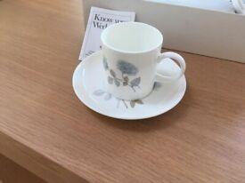 Wedgwood Bone China set of coffee cups and saucers
