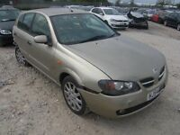 NISSAN ALMERA FOR PARTS AND BREAKING