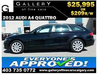 2012 Audi A4 2.0T QUATTRO $209 bi-weekly APPLY NOW DRIVE NOW