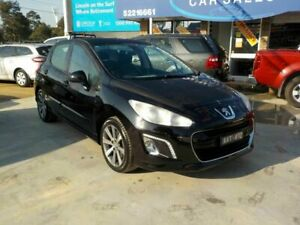 2012 Peugeot 308 Active Turbo Black 6 Speed Automatic Hatchback Newtown Geelong City Preview