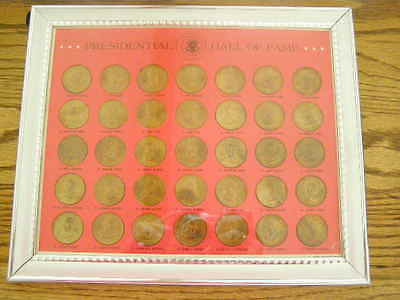 1968 Franklin Mint Presidential Hall of Fame Coin Set Complete Framed 36
