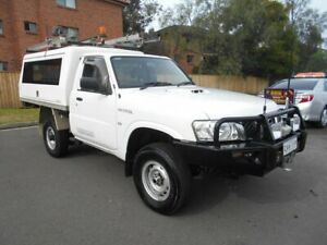 2011 Nissan Patrol MY11 Upgrade DX (4x4) White 5 Speed Manual Leaf Cab Chassis Bankstown Bankstown Area Preview