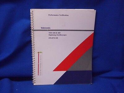 Tektronix Tds 420 460 Digitizing Oscilloscopes Performance Verification Manual