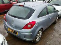 Corsa d 2008 3 door complete drivers door in silver lightning z163 07594145438