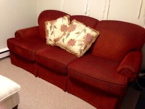 Couch , chair and tv stand