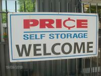 Public Auction at Price Self Storage Saturday October 22, 2016