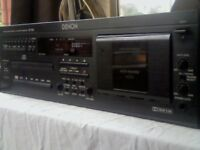 DENON DN-T620 PROFESSIONAL CD & CASSETTE DECK COMBI / COMBO DECK. V RARE AND LITTLE USED. UK RARITY.
