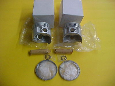 <em>YAMAHA</em> TX500 XS500 NEW STANDARD PISTON KIT 2 PISTONS RINGS PINS CLIPS