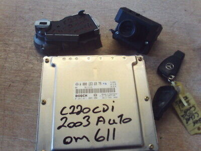 MERCEDES C CLASS W203 C220 CDI ECU KIT OM611 X2 KEYS,ECU,IGNITION EIS,LOCK