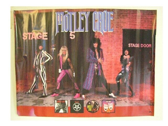 Motley Crue Poster Stage Five OLD