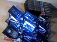 MAXELL XL1, XL2 CHROME, UD1, UDXL1, EMI SUPER, EMI STANDARD,EMI HI-DYNAMIC CASSETTE TAPES x23 JOBLOT
