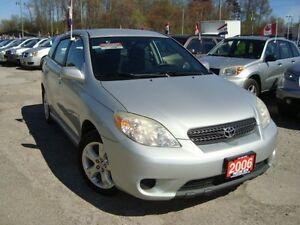 2006 Toyota Matrix XR Only 106km Accident Free Gas Saver