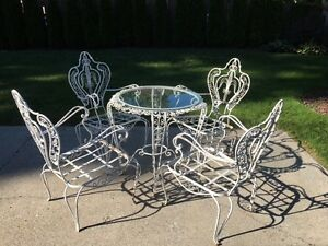 Vintage Outdoor Table and Chairs