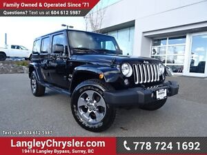 2016 Jeep Wrangler Unlimited Sahara ACCIDENT FREE W/ 4X4, U-C...