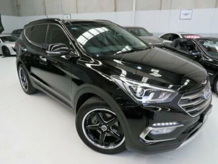 2016 Hyundai Santa Fe DM3 MY16 Highlander Black Crystal 6 Speed Sports Automatic Wagon Seaford Frankston Area Preview