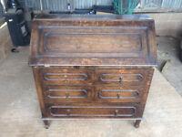 Heavy wooden writing desk